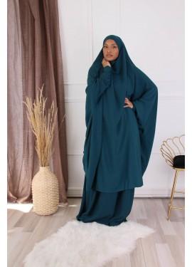 Jilbab 2 pieces - Duck green