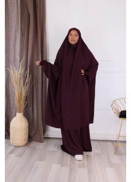 Jilbab 2 pieces - plum
