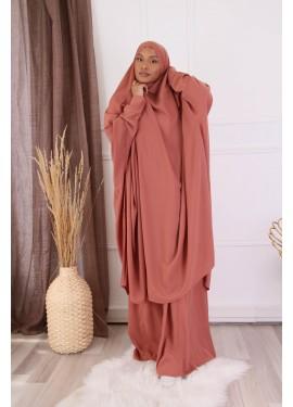 Jilbab 2 pieces - Pink