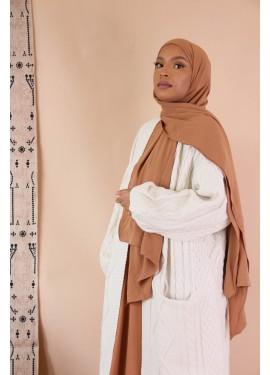 ribbed jersey hijab -...
