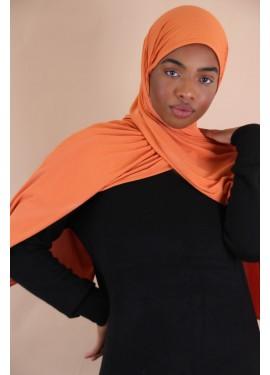 geripptes Jersey Hijab -...