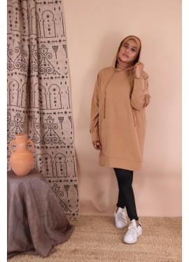 hoodie - Camel